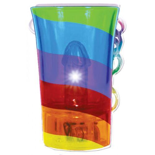 Light Up Rainbow Pecker Shot Glass /& String Pride Bachelorette Party Hot Gift