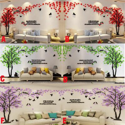 3D Fleur Arbre Maison Chambre Art Décoration À faire soi-même Autocollant Mural Amovible Autocollant Vinyle Murale