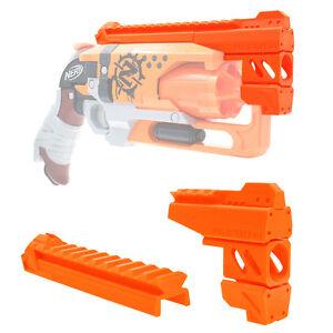 MaLiang 3D Print Snub Magnum Barrel Rail Orange for Nerf HammerShot Modify Toy