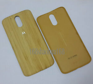 size 40 24658 fe629 Details about Original Bamboo Battery Back Cover Rear Door For Motorola  Moto G4/G4 Plus XT1622