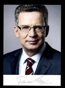 Autogramme & Autographen Politik Qualifiziert Thomas De Maiziere Foto Original Signiert ## Bc 114623 Dauerhaft Im Einsatz