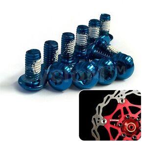 12-Piezas-Rotor-de-Freno-de-Disco-Bicicleta-Ciclismo-Tornillo-Pernos-M5-X10MM-Azul-Rojo-Verde
