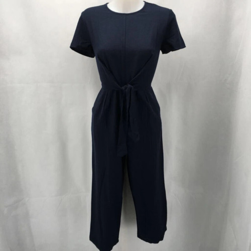 MNG Navy Short Sleeve Jumpsuit Small
