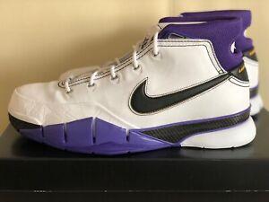 96dad04c8b7d Nike Kobe 1 Protro 81 Points AQ2728-105 White Purple Basketball ...