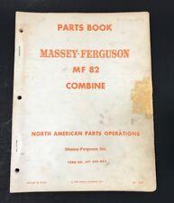 1964 Massey Ferguson Parts Book Mf 82 Combine 651 009 M92 North American Parts