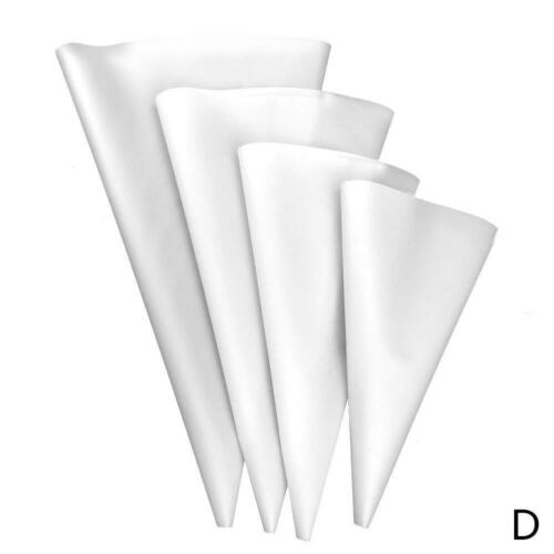 4pcs Silicone Reusable Icing Piping Cream Pastry Bag Cake Decor Tool DIY
