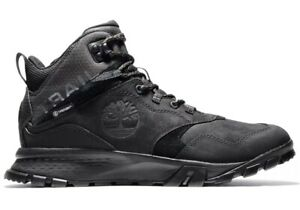 Timberland-Garrison-Trail-Mid-Waterproof-Mens-Hiking-Boots-Black-Sneaker-Leather