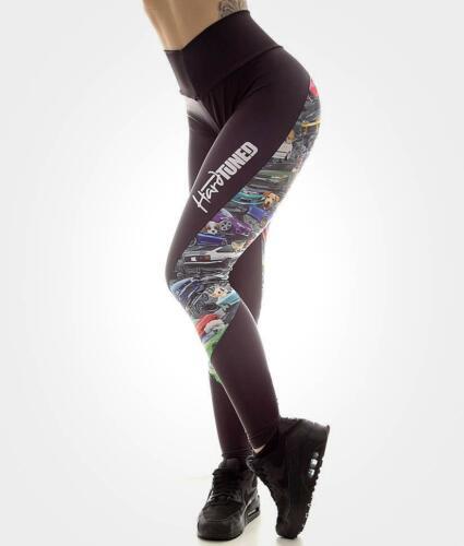 JDM Booty Cuties Form Fitted High Waisted JDM Car Drift Gym Womens Leggings