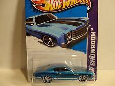 2013 Hot Wheels #239 Blue '70 Monte Carlo w/PR5 Wheels