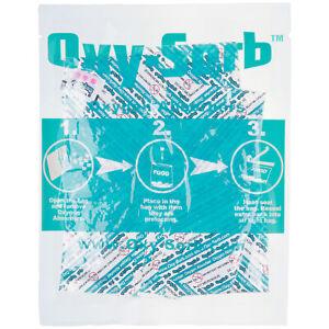 Oxy-Sorb 600 Paquete Oxígeno Amortiguadores Para Comida Almacenaje Largo Plazo