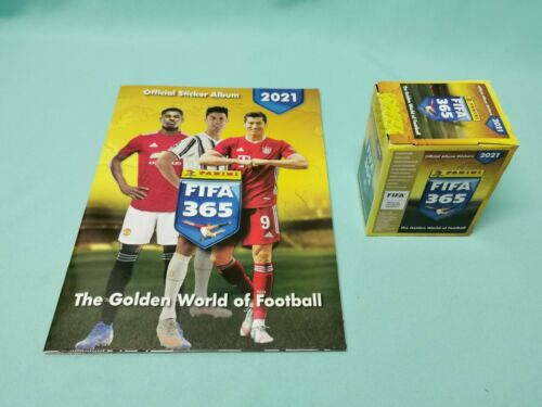 Panini Fifa 365 2021 Sticker Sammelalbum 1 x Display 50 Tüten