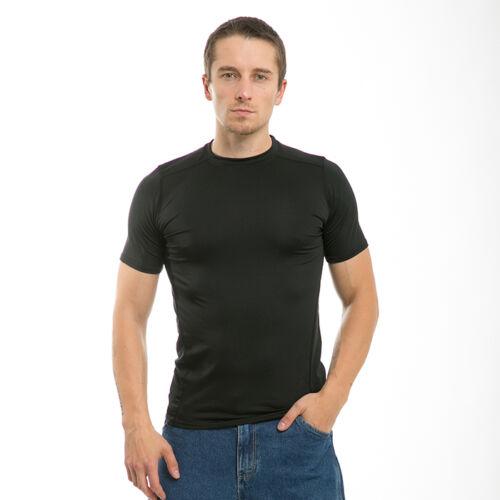 Solid Black Dri Cool Muscle Workout Fit Training T-Shirt T-Shirts Shirt Shirts