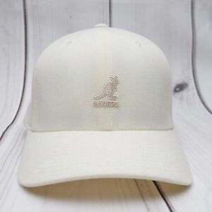 KANGOL-Baseball-Hat-Wool-Flexfit-Cream-Kangaroo-Small-Medium-Style-8650BC