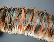 Half Bronze Coque feathers Natural rooster tail feathers iridescent brown bulk