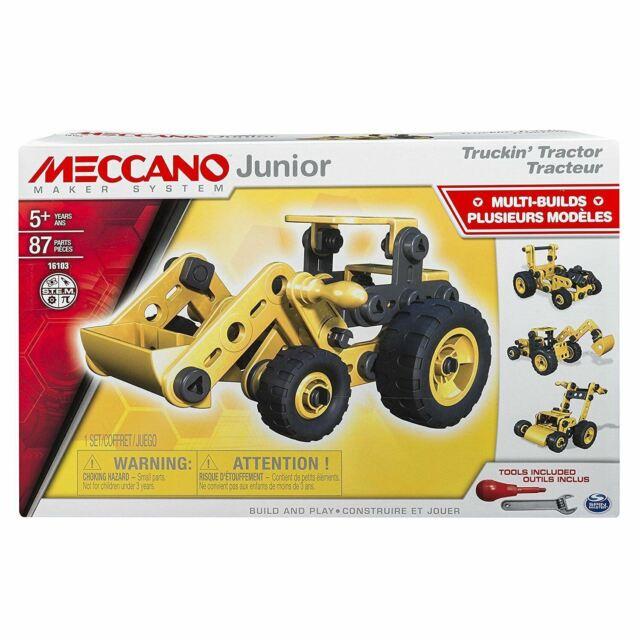 Meccano Junior Truckin' Tractor Easy to Build 4 Model Building Set Boys Toy