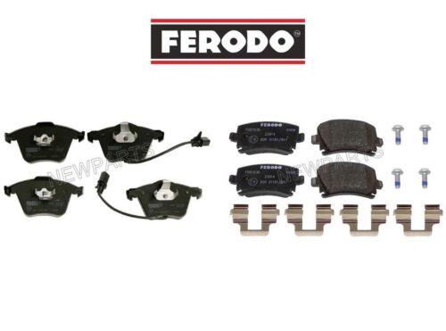 For Audi A6 Quattro V6 L4 Pair Set Front /& Rear Disc Brake Pad Sets Ferodo OEM