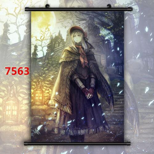 Bloodborne Plain Doll Lady Maria Canvas Print Wall Poster Scroll Room Decor
