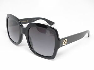 b0a81952c9d77 New Authentic Gucci GG0036S 001 Black w Grey GG 0036S Sunglasses ...