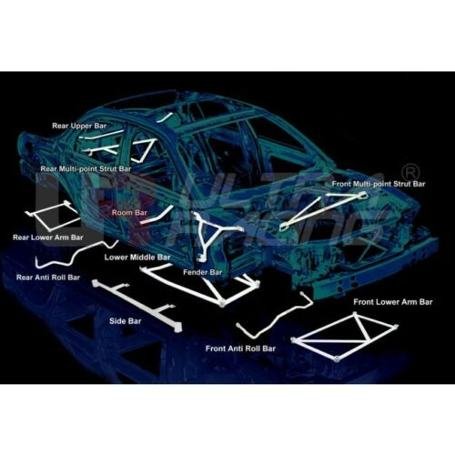 REAR LOWER BAR FOR PORSCHE CARRERA 4S 991 4WD 3.8 2014 ULTRA RACING RL2-2677