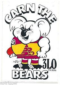 1990 Weg ABC Radio 3LO 774 Sticker BRISBANE BEARS