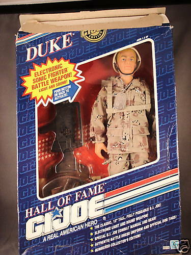 1991 DUKE GI JOE IN  BOX 12  Duke nametag upside down
