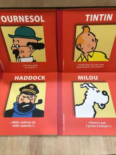 Lot 4 livres TINTIN HADDOCK TOURNESOL MILOU Moulinsart
