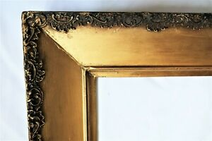 """SM ANTIQUE FITS  8 X 10"""" GOLD PICTURE FRAME WOOD GESSO ORNATE FINE ART COUNTRY"""