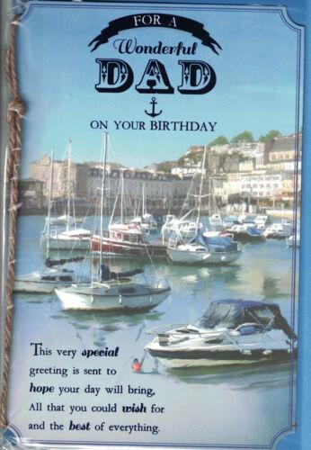 Dad Birthday Card Choice Of Modern Medium Quality Cards For Men Size 23cm x 16cm