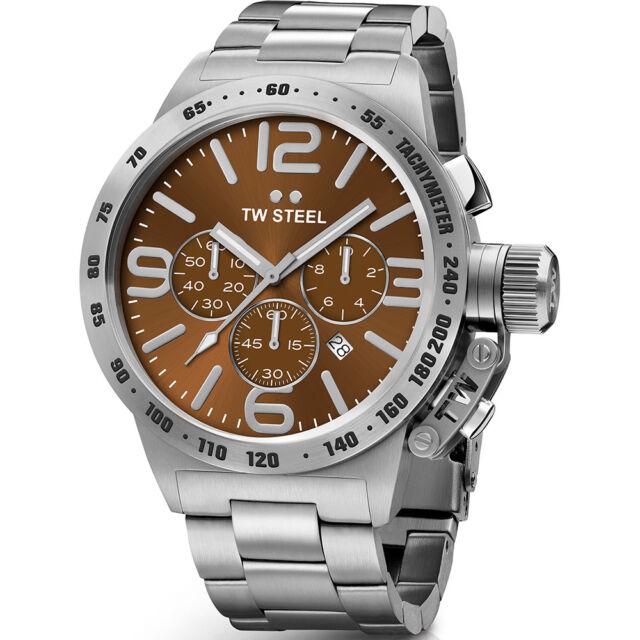 Tw Stahl CB23 Herren 45MM Canteen Chronograph Uhr - 2 Jahre Garantie