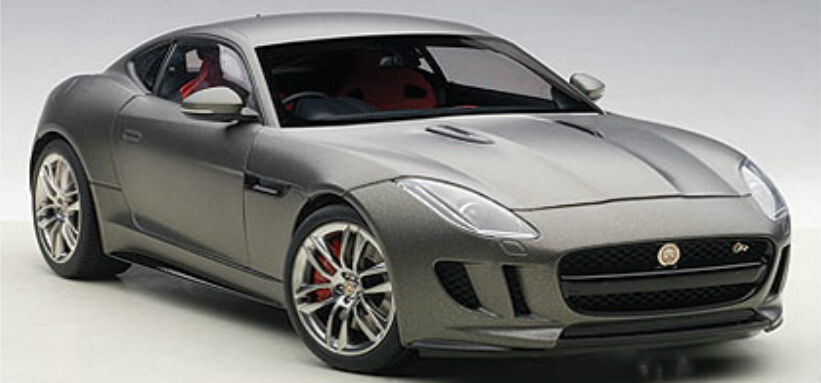 1:18 Autoart JAGUAR F-Type R Coupe  Matt grigio  2015  Composite Model/Full openin