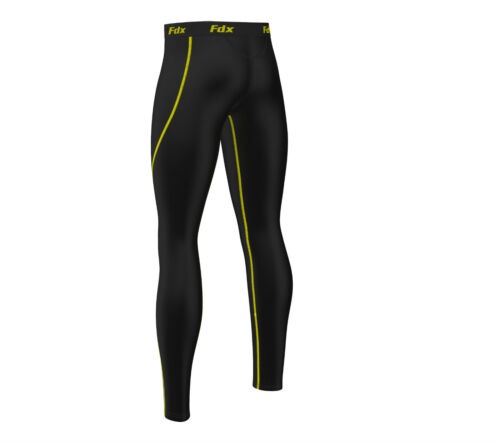 Pants Layer Nero Tight Mens Fdx Pantalone Base giallo Legging Under Compression Running Long Xx16qx