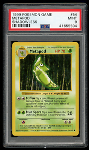 1999-Pokemon-Game-54-Metapod-Shadowless-PSA-9-MINT-Base-Set