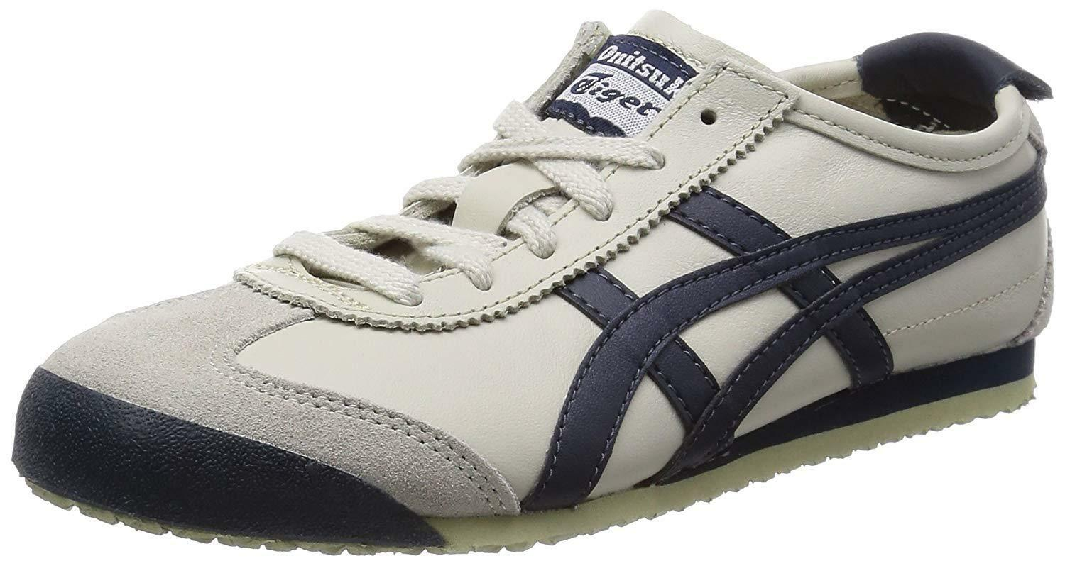 the best attitude 2924c d0379 Onitsuka Tiger Asics Shoes Sneaker Mexico 66 THL202 Birch Navy Us7.525.5cm