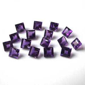 Amazing-Lot-Natural-Purple-Amethyst-3X3-MM-Square-Cut-Faceted-Loose-Gemstone