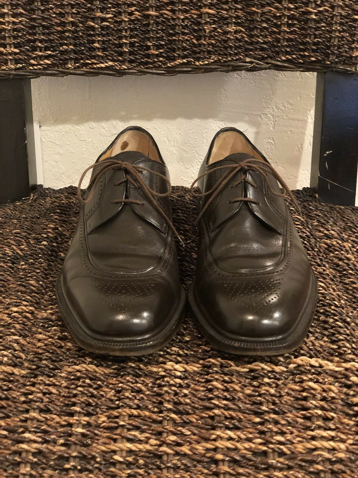"buy online be6d6 664c2 ""A. ""A. ""A. TESTONI"" Uomo Dimensione 8 Marrone Leather Oxford Lace Up scarpe  . fe6131. """