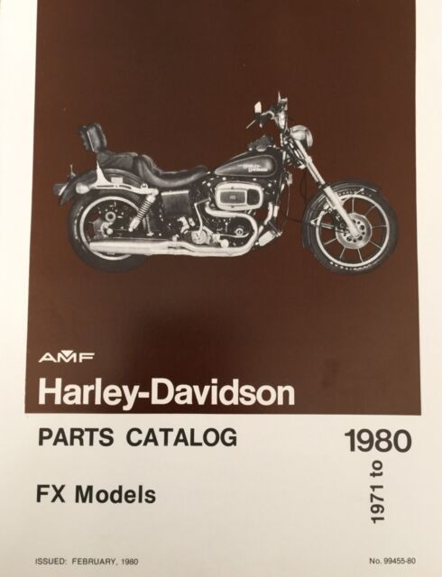 Original Harley Shovelhead FX Parts Catalog 1971-80 NOS part# 99455-80 93