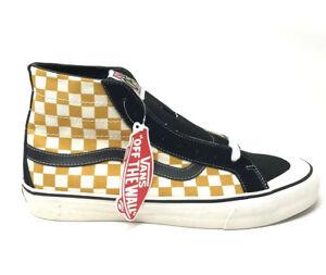 1bfb9c823c0445 Vans Sk8 Hi 138 Decon Surf Check Black Sunflower Men s 11.5 Skate ...
