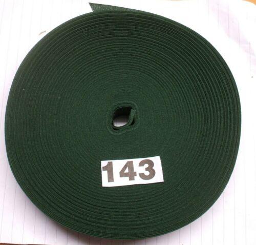 """143 5m X 25mm//1/"""" Cinta de Unión de sesgo de Algodón Navidad Verde mercería"""