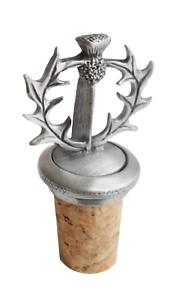 Scottish Thistle Cork /& Pewter Wine Or Spirit Bottle Stopper
