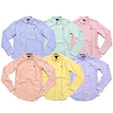 Polo Ralph Lauren Womens Shirt Slim Fit Oxford Buttondown Long Sleeve Sport Pony