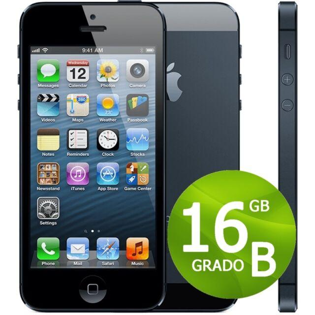 APPLE IPHONE 5 16GB NERO GRADO B + GARANZIA 12 MESI - 5G RICONDIZIONATO 16