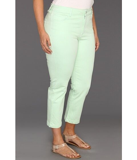 NEW NYDJ Not Your Daughters Jeans pants Audrey green colord ANKLE PLUS 14W  22W