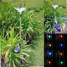 Solar Powered Butterfly Yard Garden Stake Color Changing LED Light