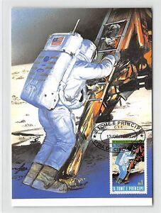 S-TOME-MK-WELTRAUM-MONDLANDUNG-SPACE-MOONLANDING-CARTE-MAXIMUM-CARD-MC-CM-m225