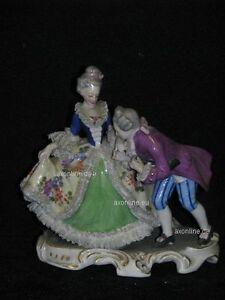 + # A005740_01 Goebel Archive Motif Rococo Paire Homme Embrasse Main De Mme Couronne-afficher Le Titre D'origine