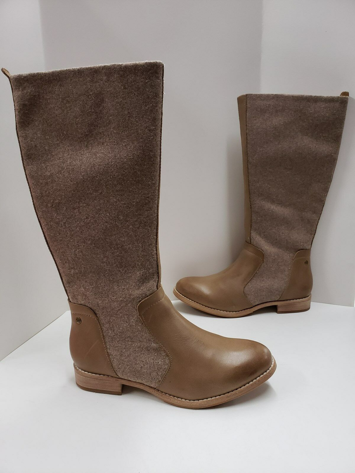NIB Womens Caterpillar Ceil Tan Leather and Wool Riding Boots P310508