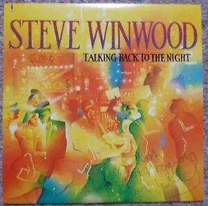 STEVE-WINWOOD-Talking-Back-to-Night-PROMO-LP-ALBUM-Signed-Autographed-TRAFFIC