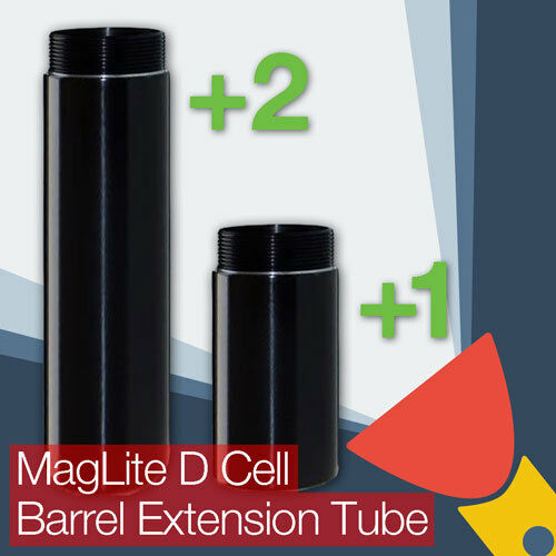 MagLite D Cell Barrel//Body Extension Tube One Cell or Two Cell Battery Options