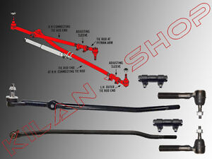 3x-Track-Rod-End-1x-Push-Rod-2x-Setting-Sleeve-Dodge-Ram-2500-3500-4WD