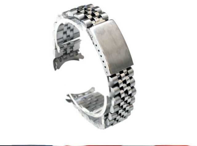 20mm Jubilee Watch Band Bracelet Heavy Stainless Steel For Rolex